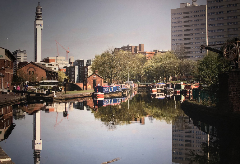 View of the Birmingham canal, 2017