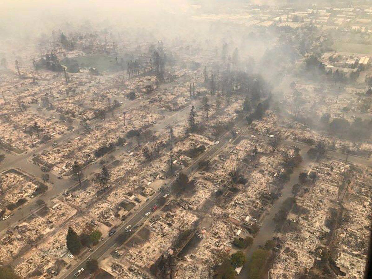 Kaliforniya'da yangından sonra görüntüler
