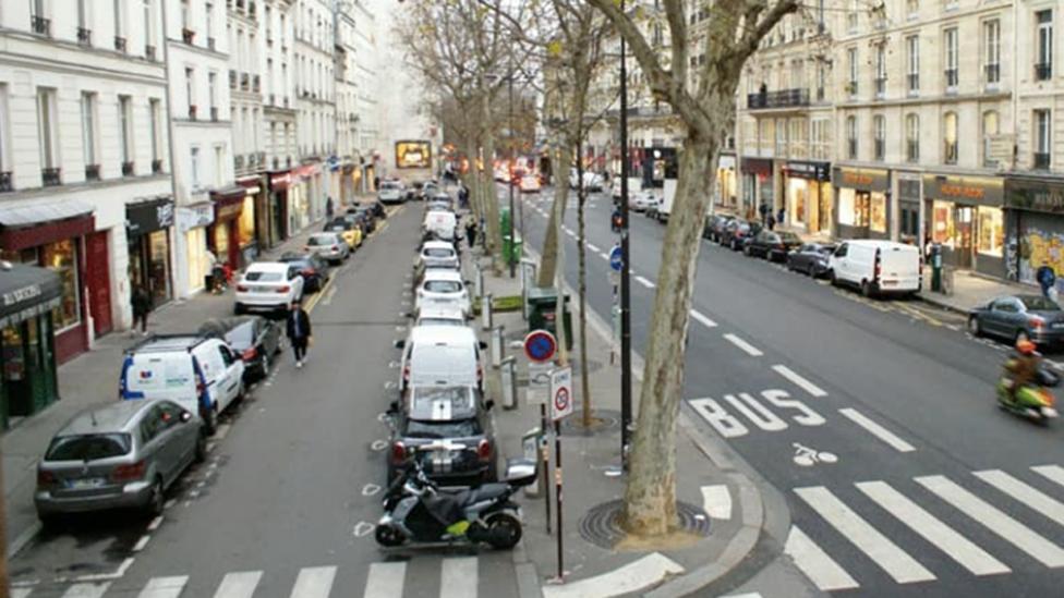 Así se ve la calle Réaumur sin transformación