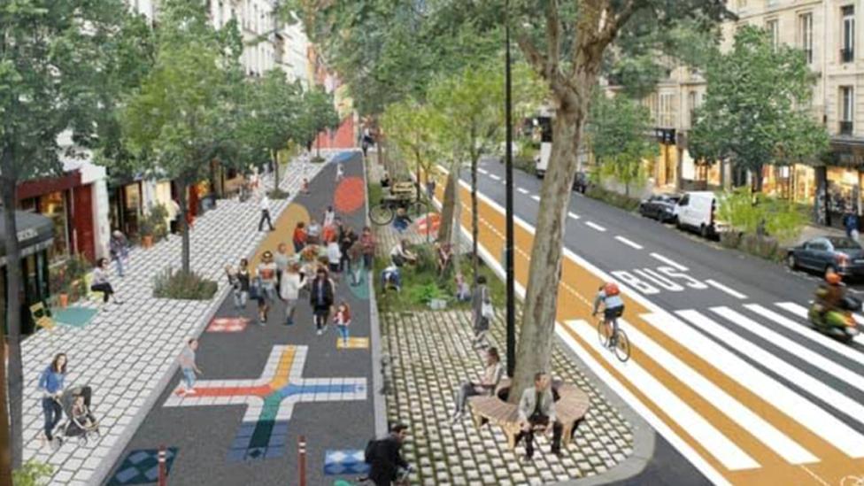 Así se verá la transformación de la calle Réaumur después.