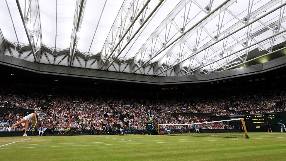 How Centre Court looked in 2018