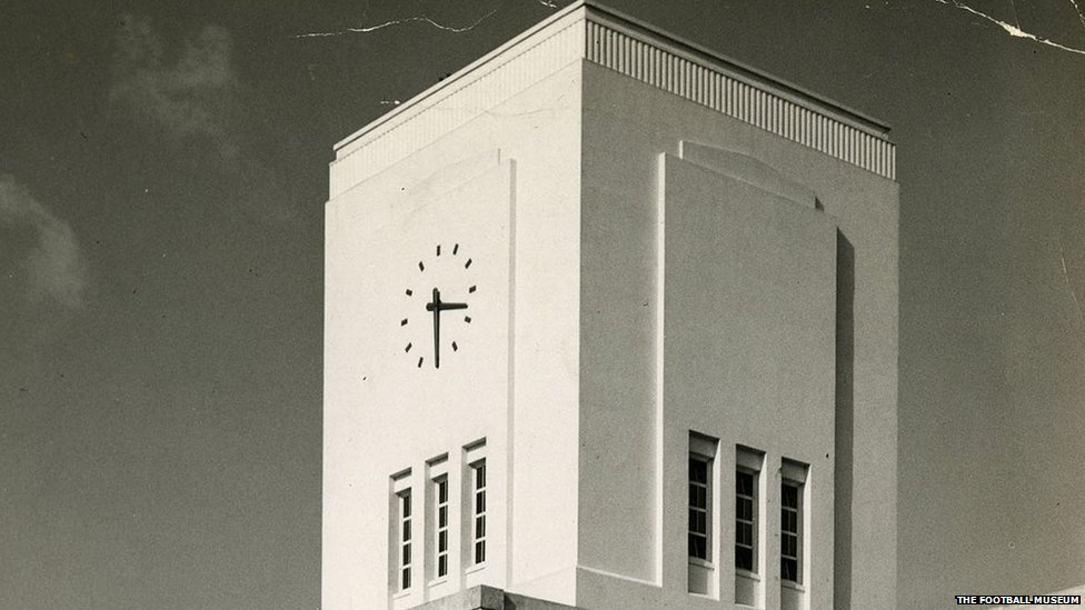 Clock tower in 1949