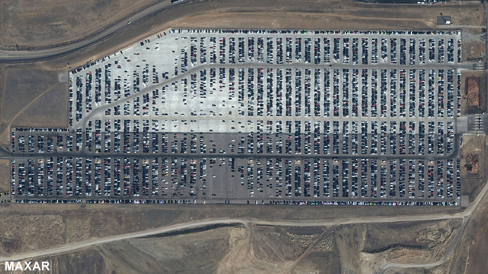 Denver International Airport's long-term car park, 7 March 2020