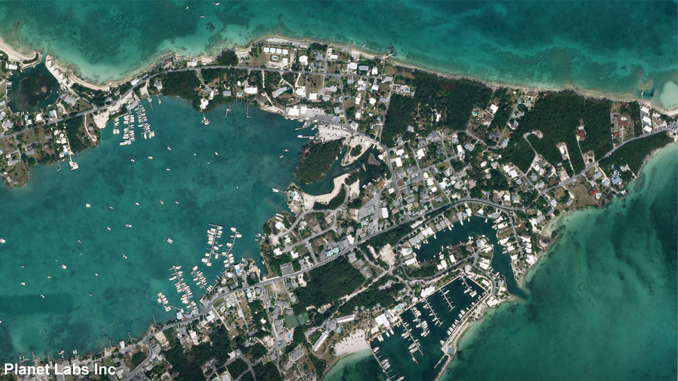 Marsh Harbour in Abaco Islands on 29 May