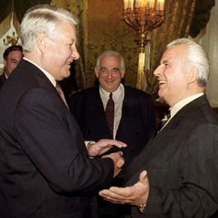 Президенти України та Росії Леонід Кравчук і Борис Єльцин, 1993