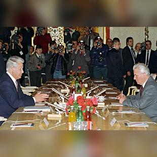 Президенти України та Росії Леонід Кравчук і Борис Єльцин, 1994