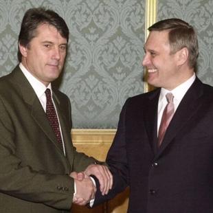 Прем'єри України та Росії Віктор Ющенко і Михайло Касьянов, 2001