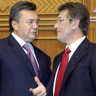 Кандидати в президенти Віктор Ющенко і Віктор Янукович, 2004