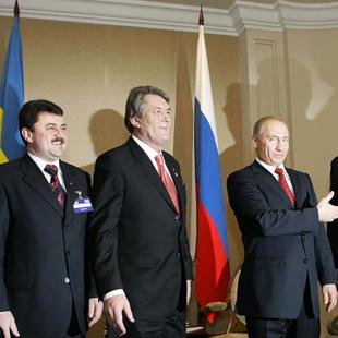 Президенти України та Росії, міністри енергетики, керівники газових компаній, січень 2006