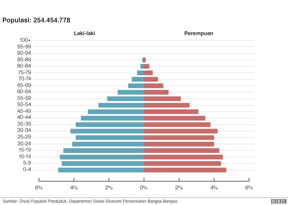 Grafik Populasi Indonesia Tahun 2014