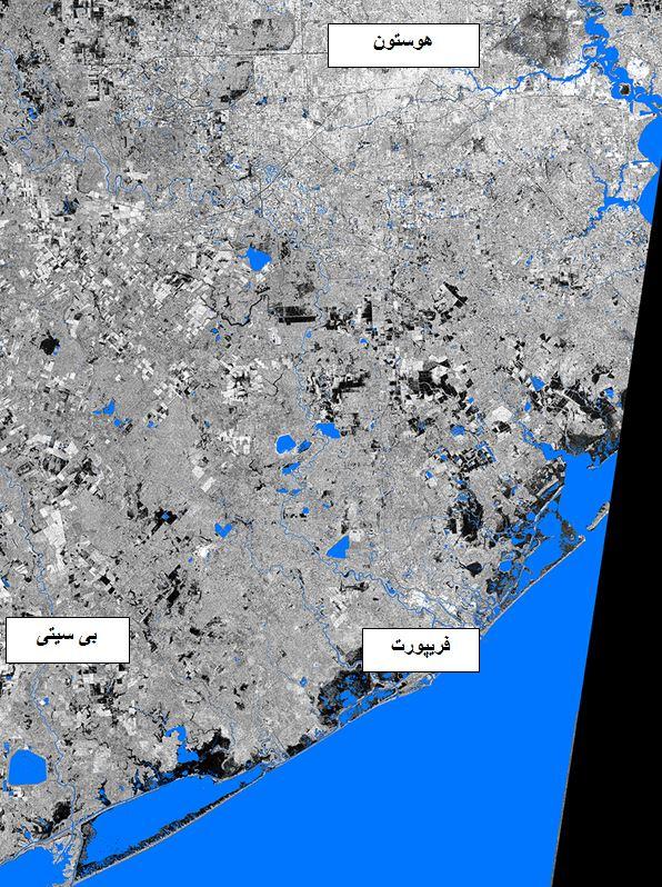 تصاویر ماهوارهای از خط ساحلی تگزاس، قبل از توفان هاروی را نشان میدهد