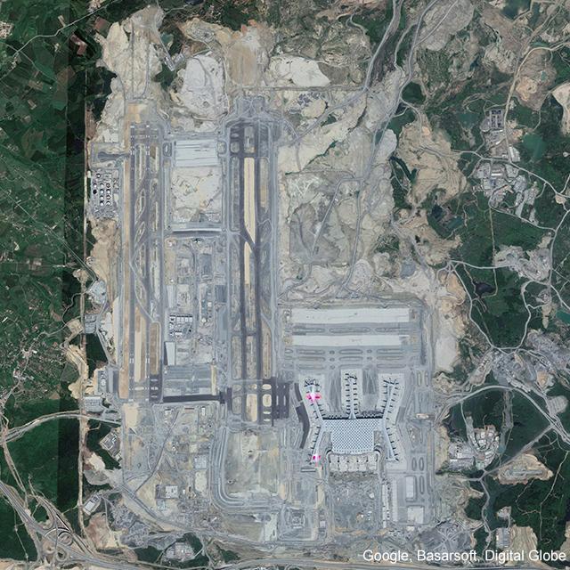 Mayıs 2018 itibariyle İstanbul Yeni Havalimanı inşaatı