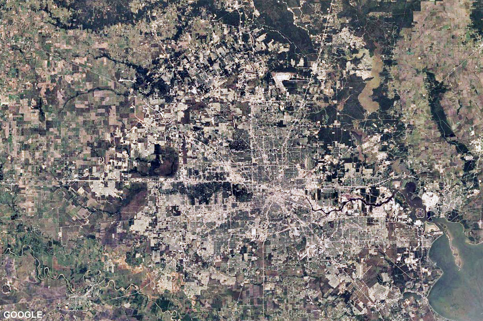 Satellite image of Houston taken in 1984