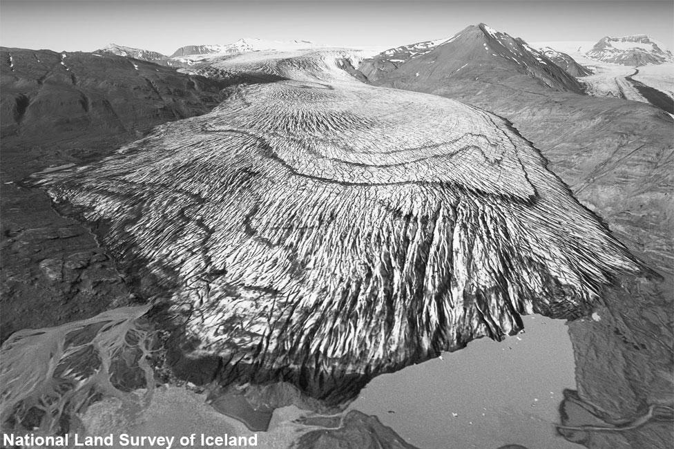 Льодовик Скалафеллсйодукль у 1989 році