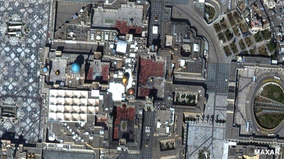 The Imam Reza shrine in Mashhad, Iran, 12 March 2020