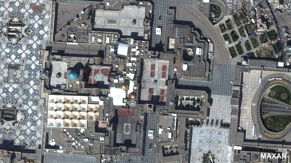 Santuario del Imán Reza en Mashhad, Irán, el 12 de marzo de 2020