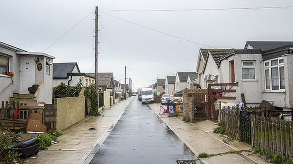 Austin Street in Jaywick Sands