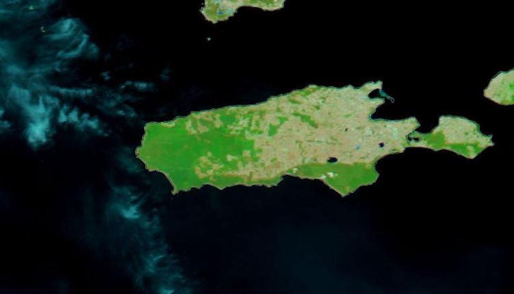 Kanguru Adası yangın öncesi uydu görüntüleri