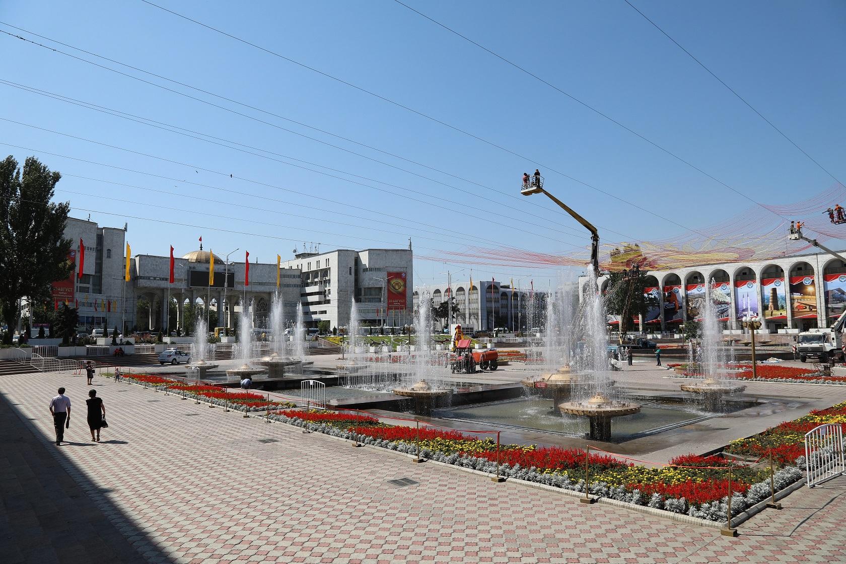 Ала-Тоо аянтынын азыркы көрүнүшү, Бишкек шаары