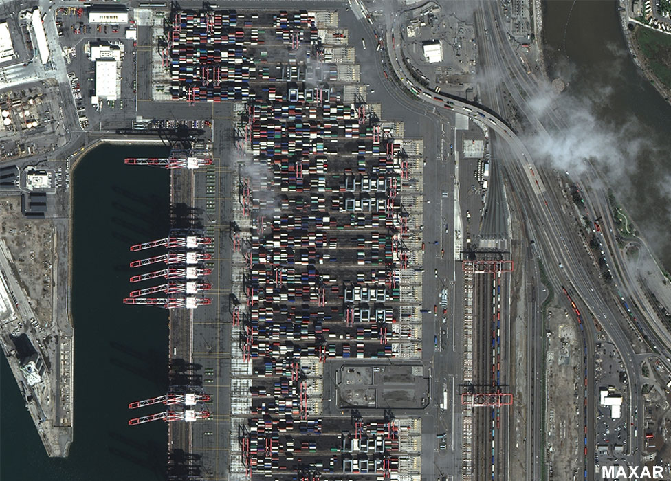 Long Beach container yard 17 March 2020