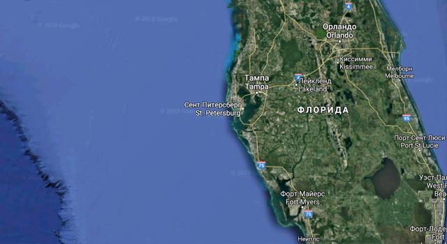 Карта Флориды, Google maps