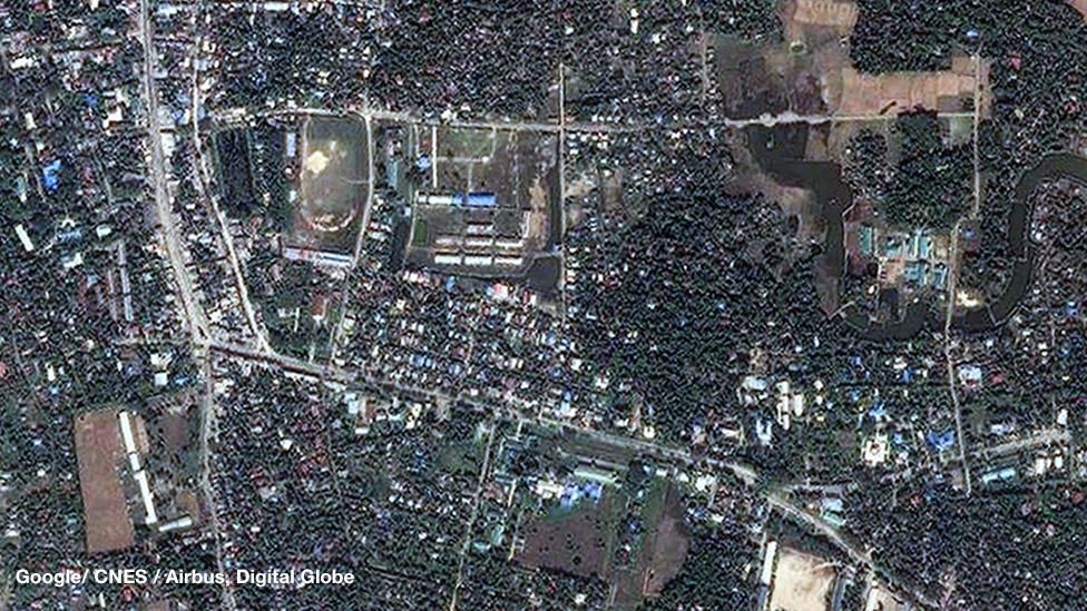 عکس ماهوارهای از ماونگداو قبل از آغاز خشونتها