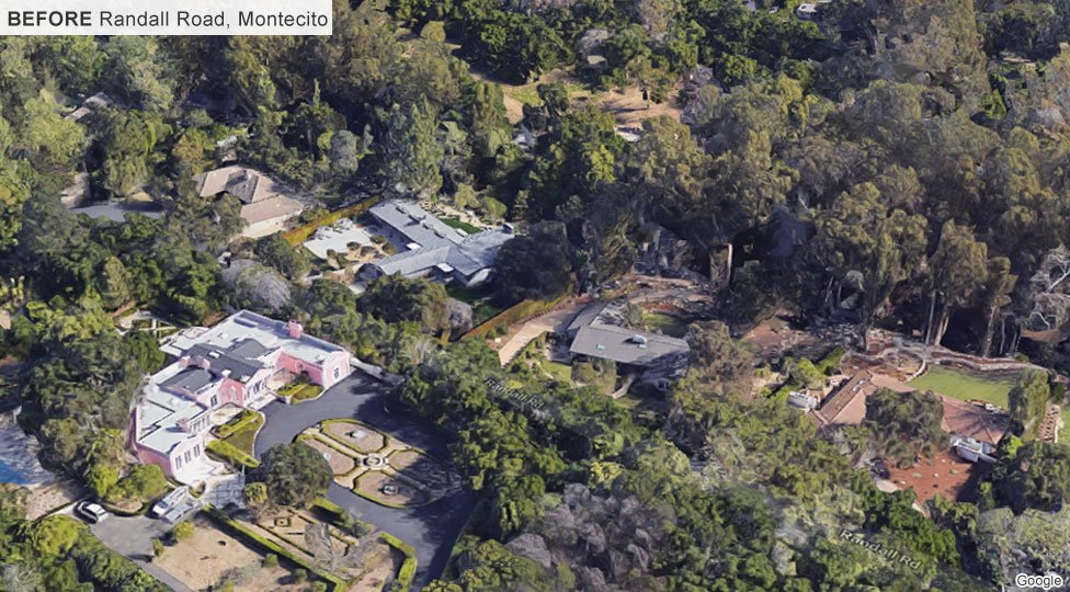 Randall Road, Montecito, before