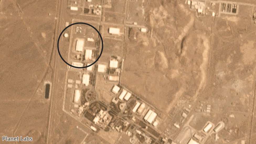Satellite image showing the nuclear facility in Natanz, Iran, 1 July 2020
