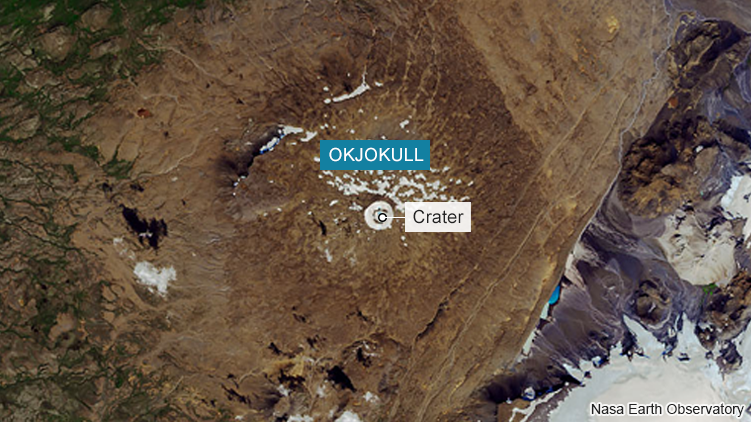 Iceland holds funeral for Okjökull, their first glacier to completely melt away
