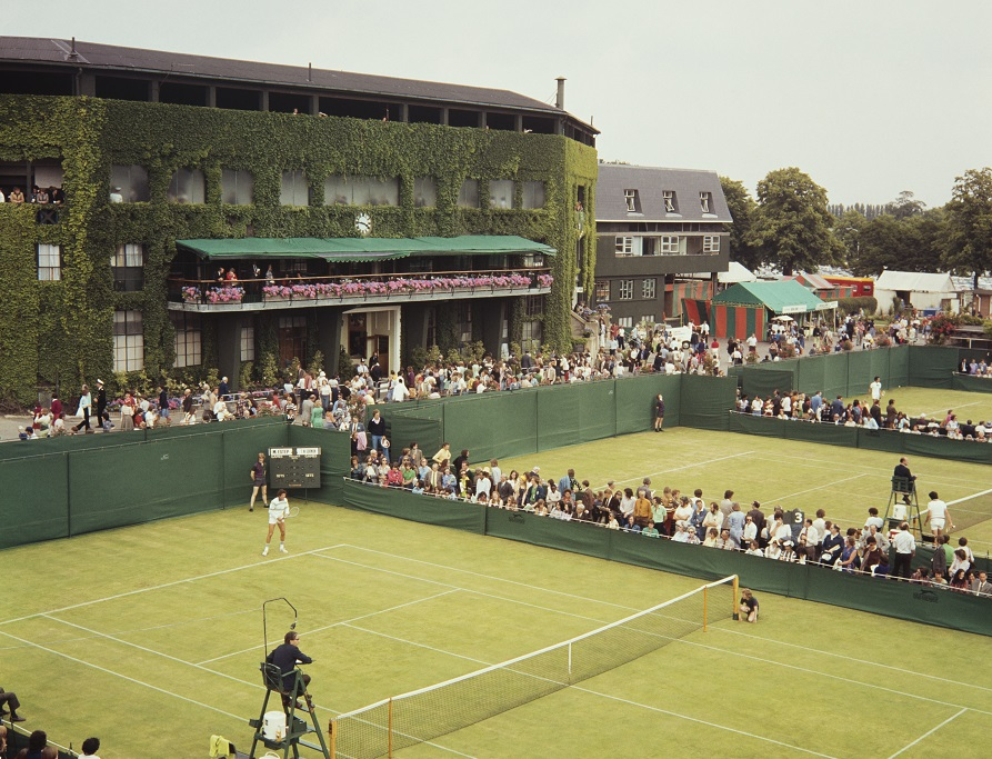 How Centre Court looked from the outside in 1968