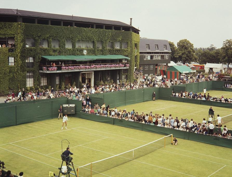 Bagaimana Center Court memandang dari luar pada tahun 1968
