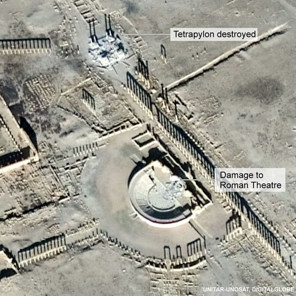 Satellite image of Palmyra