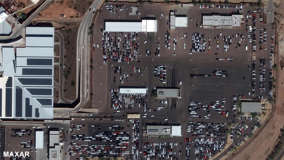 Car rentals at Phoenix Airport 5 March 2020