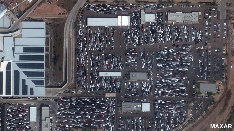 Car rentals at Phoenix Airport 16 March 2020