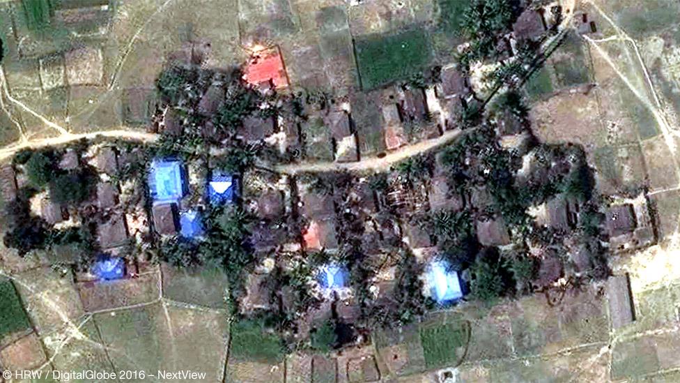 Кьет Йо Пьин - снимок со спутника, март 2016