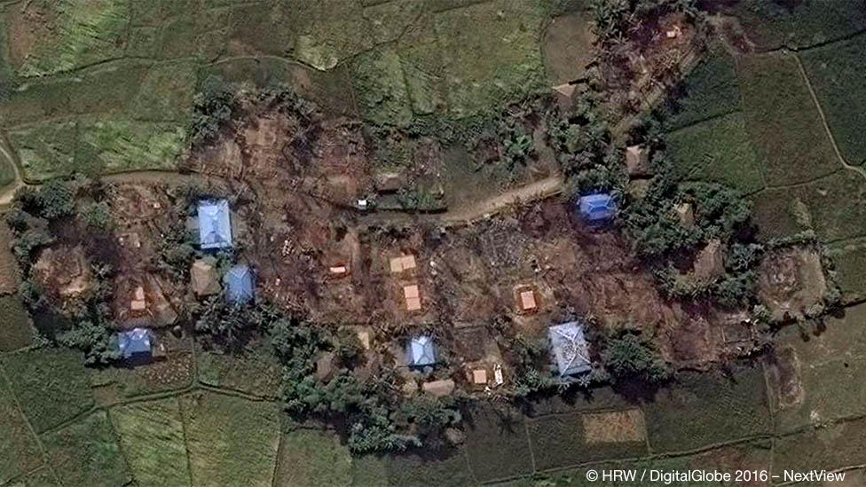 Кьет Йо Пьин - снимок со спутника, 2016