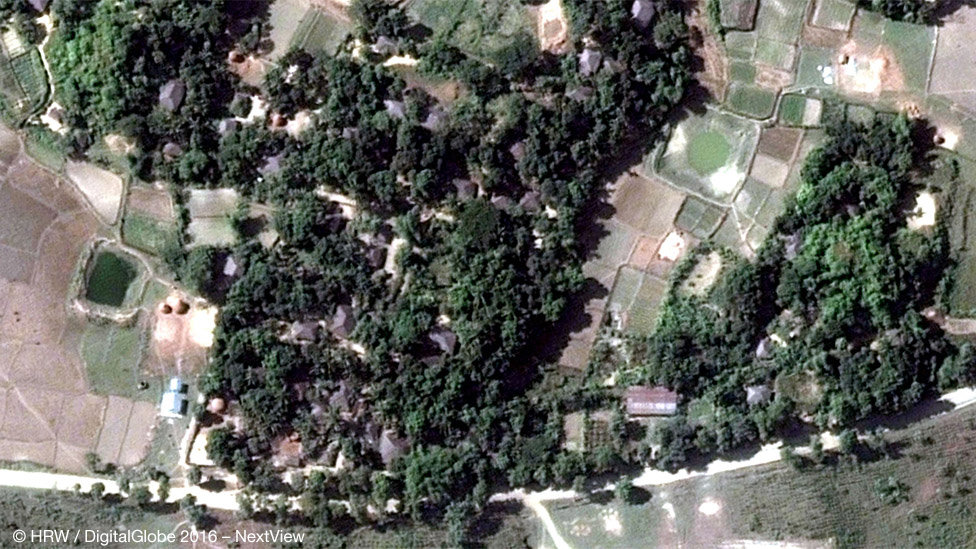 Деревня Ва Пейк (Кай Кан Пайн) - снимок со спутника, 2014