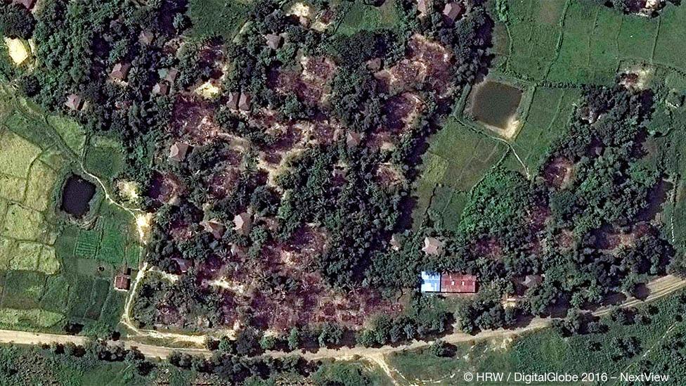 Деревня Ва Пейк (Кай Кан Пайн) - снимок со спутника, ноябрь 2016