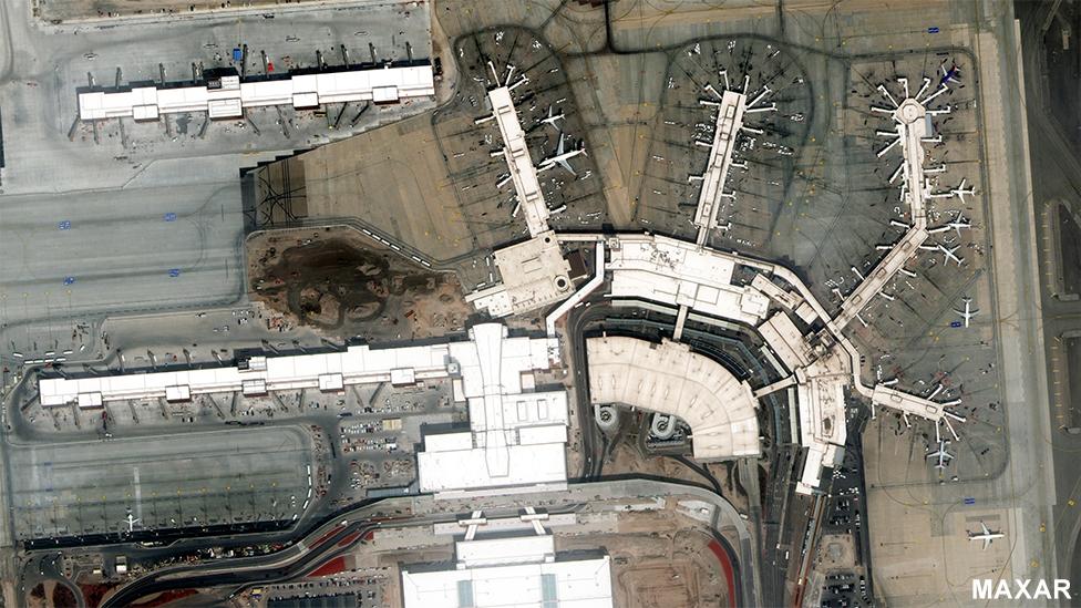 Aeropuerto de Salt Lake City el 16 de marzo de 2020