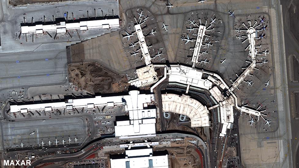 Aeropuerto de Salt Lake City el 5 de marzo de 2020