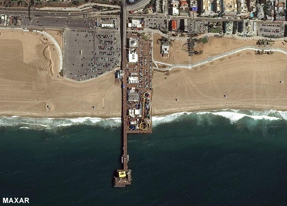 Santa Monica pier 11 March 2020