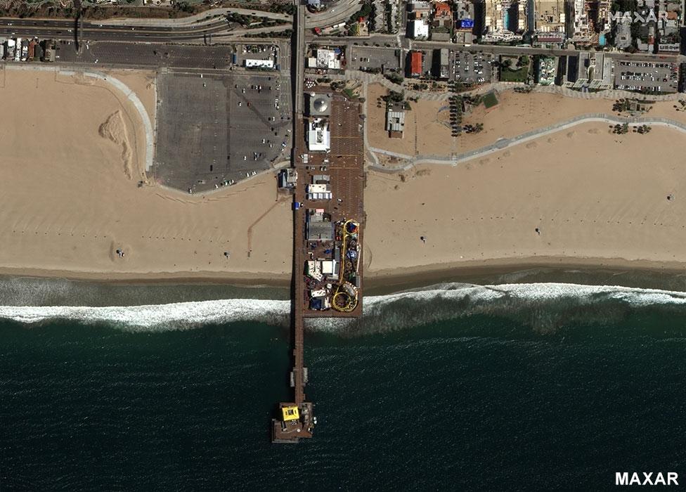 Santa Monica pier 22 March 2020