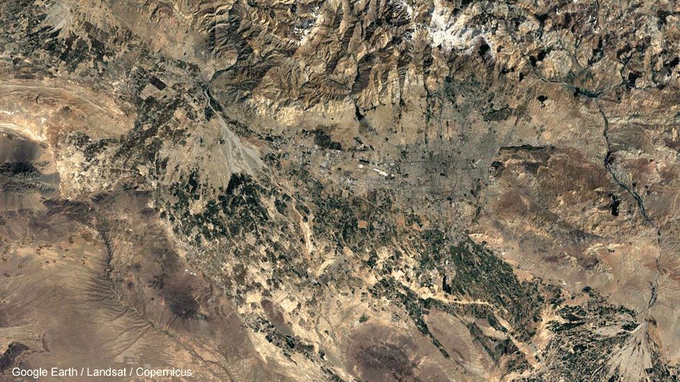 تصویر ماهوارهای تهران در سال ۱۳۶۴