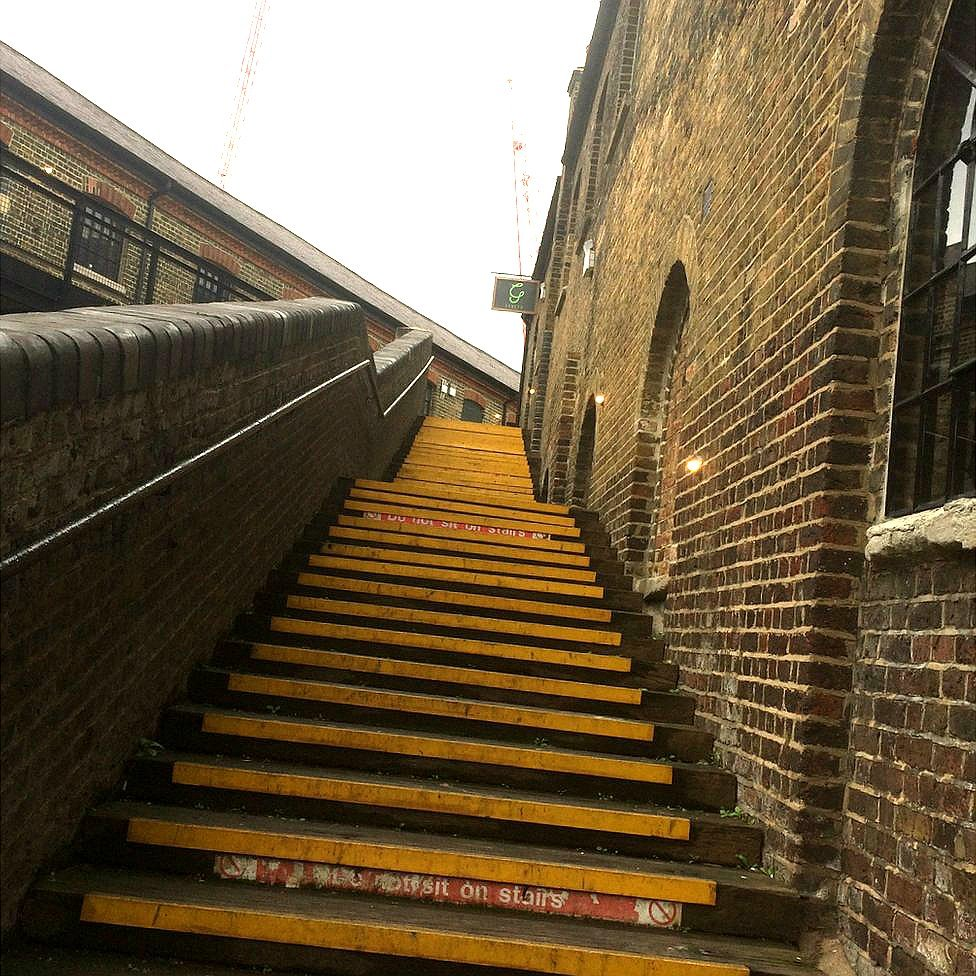 Set of steps in Camden Market