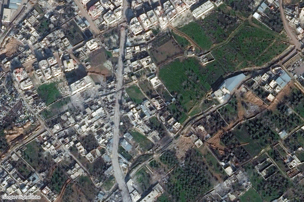 Residential area between Jobar and Douma