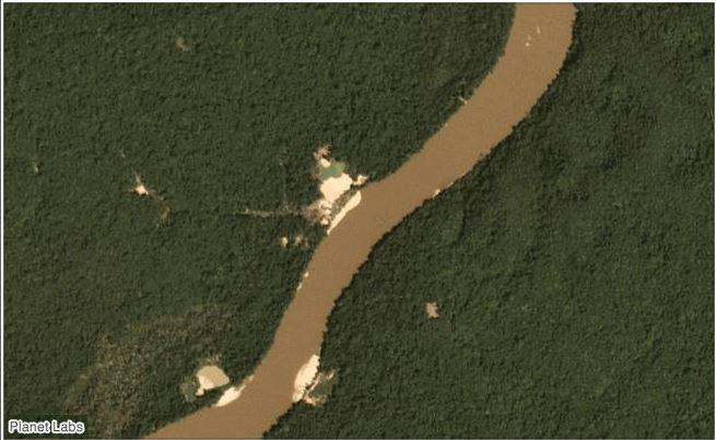 Tierra indígena yanomami en enero de 2019