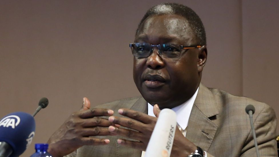 South Sudan's Minister of Cabinet Affairs Dr Martin Elia Lomuro