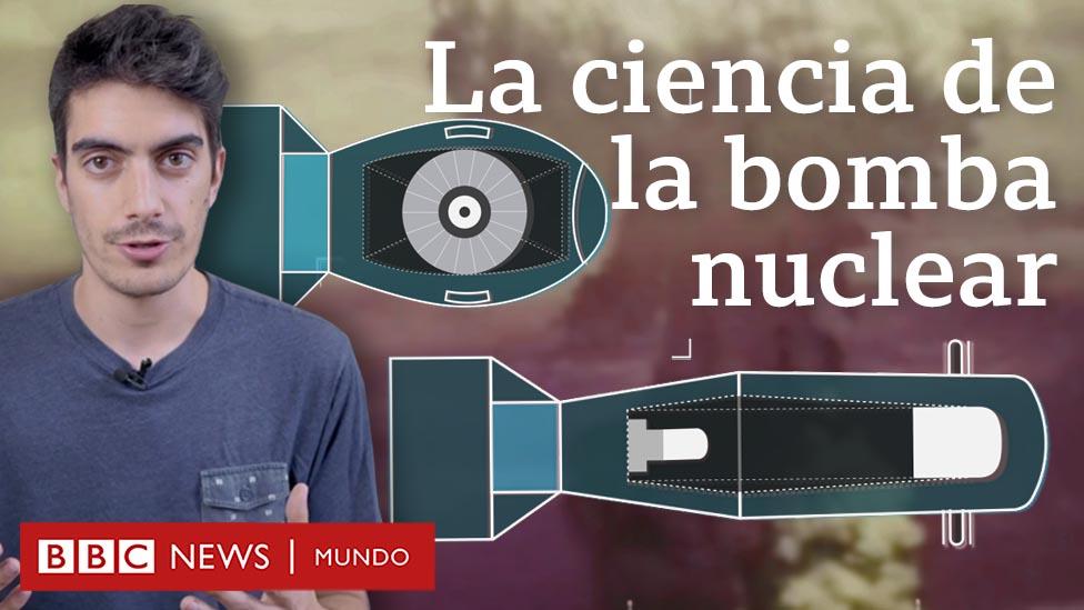 Montaje de la bomba atómica con presentador