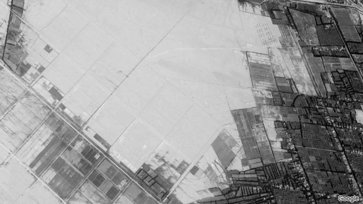 Imagen satelital de la ubicación del campo de Bosidan en 2016