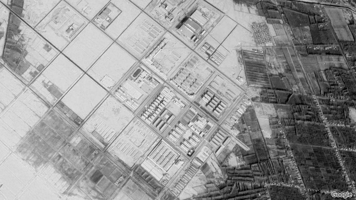 Imagen satelital de la ubicación del campo de Bosidan en 2019